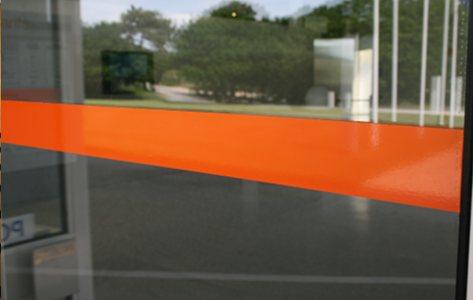 Marquage de surfaces vitrées avec VIGIVITRE
